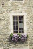 Fenêtre dans la ville de Qubec dans le Canada photographie stock libre de droits