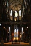 Fenêtre dans le St Marien d'église dans le bac de teinture de ¼ de LÃ photo libre de droits