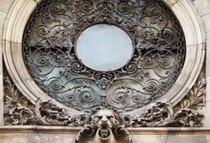 Fenêtre dans le style baroque (XVIème siècle) photographie stock