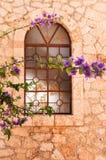 Fenêtre dans les îles grecques Photos libres de droits