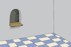 Fenêtre de billet dans la chambre Image stock