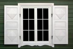 Fenêtre de blanc de village Photo stock