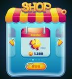 Fenêtre de boutique de jeu pour l'ordinateur APP Image stock