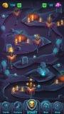 Fenêtre de carte de GUI de bataille de monstre Images libres de droits