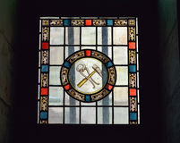 Fenêtre de cathédrale dans notre Madame de chapelle de grâce Image libre de droits