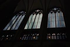 Fenêtre de cathédrale de Cologne photos libres de droits