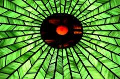 Fenêtre de cercle en verre souillé Photo libre de droits