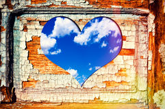 Fenêtre de coeur Photographie stock libre de droits