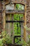 Fenêtre de construction abandonnée photographie stock libre de droits