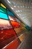 Fenêtre de couleur d'aéroport de Shenzhen Photo stock