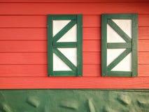 Fenêtre de ferme Photographie stock