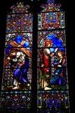 Fenêtre de fondation de messes de Draper, église de prieuré Images libres de droits