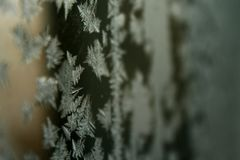 Fenêtre de Frost Photographie stock libre de droits