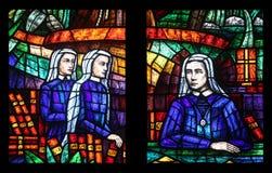 Fenêtre de l'Afrique, verre souillé dans Votiv Kirche à Vienne Images libres de droits