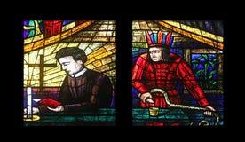 Fenêtre de l'Amérique dans Votiv Kirche à Vienne Photo libre de droits