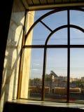 Fenêtre de la gare ferroviaire photo stock