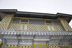 Fenêtre de Masjid Ihsaniah Iskandariah chez Kuala Kangsar photos libres de droits