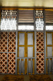 Fenêtre de Masjid Ihsaniah Iskandariah chez Kuala Kangsar image stock