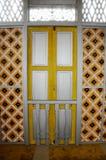 Fenêtre de Masjid Ihsaniah Iskandariah chez Kuala Kangsar photographie stock
