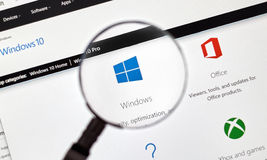 Fenêtre 10 de Microsoft images stock