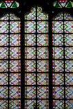 Fenêtre de mosaïque de cathédrale de Notre Dame Image libre de droits