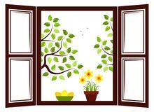 Fenêtre de Pâques Photographie stock