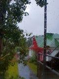 Fenêtre de pluie photo libre de droits