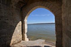 Fenêtre de rivière Photo libre de droits
