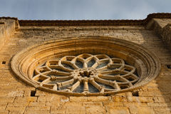 Fenêtre de Rose d'église de Villalcazar de Sirga Photographie stock