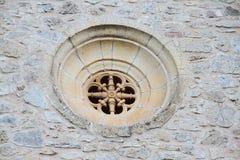 Fenêtre de Rose dans le style Romanic Photos libres de droits