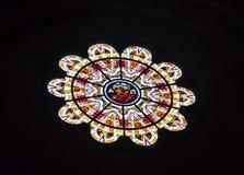Fenêtre de Rose dans Sacre Coeur, Paris Photos libres de droits