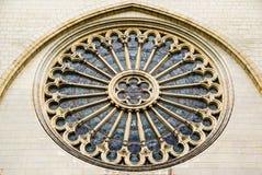 Fenêtre de Rose du côté de St Maurice Cathedral Angers, Fran Image stock