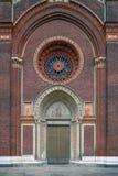 Fenêtre de Rose de Santa Maria del Carmine à Milan photographie stock libre de droits