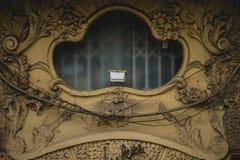 Fenêtre de style d'Art nouveau, architecture tipical de ci espagnol Images stock