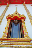Fenêtre de temple Nontaburi Thaïlande de Bangpai Images libres de droits