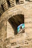 Fenêtre de vieille forteresse Photographie stock
