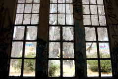 Fenêtre de vieille industrie Image stock
