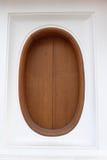 Fenêtre en bois Images stock