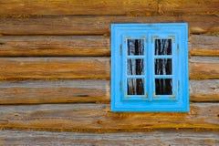 Fenêtre en bois antique de maison, musée Photos stock