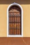 Fenêtre en bois antique en détail Photo stock