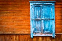 Fenêtre en bois de vieux vintage Photos libres de droits