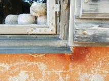 Fenêtre en gros plan faisante le coin Image libre de droits