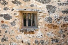 Fenêtre en pierre de mission photographie stock