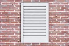 Fenêtre en plastique blanche de gril de ventilation d'air rendu 3d illustration stock