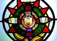 Fenêtre en verre teinté antique photos libres de droits