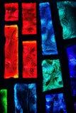 Fenêtre en verre teinté avec le modèle de remous Images libres de droits