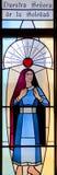Fenêtre en verre teinté californienne de mission photo libre de droits