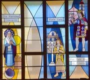 Fenêtre en verre teinté californienne de mission image stock