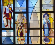 Fenêtre en verre teinté californienne de mission photographie stock