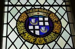 Fenêtre en verre teinté chez Stirling Castle image stock